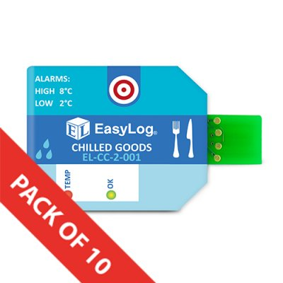 EL-CC-2-001 PK10       Chilled Goods Cold Chain Data Loggers